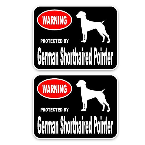 15*11.4CM 2X German Shorthaired Pointer High Quality Car Sticker