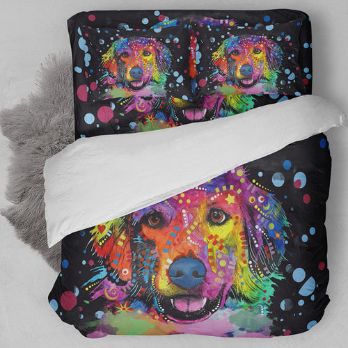 Bedding Set Colorful Labrador retriever dog Print Duvet Cover set with pillowcase 3pcs Design Queen King Bed  best gift