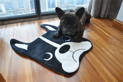 1 pc 50x40cm Cartoon carpet Bulldog sleeping mat Living room