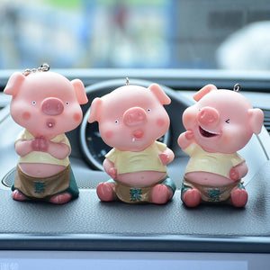 3D kiss pig couple keychain for Lovers Gift Trinket lovely