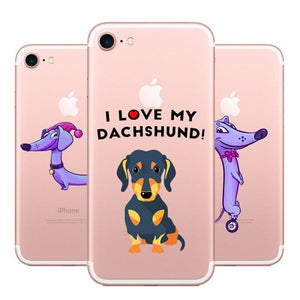 I love my Dachshund Phone Case For Apple iPhone