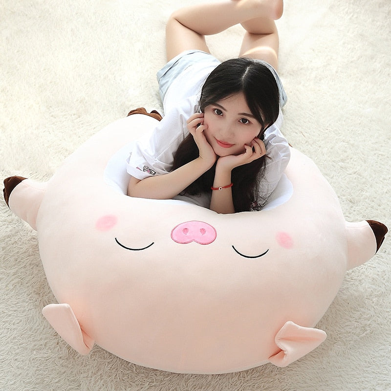 cartoon expression pig figurine cute pillow