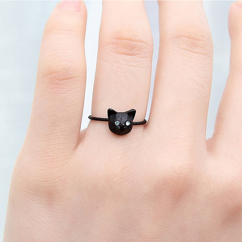 Cute Animal Cat Ring Christmas Kitty  Fashion Party Jewelry