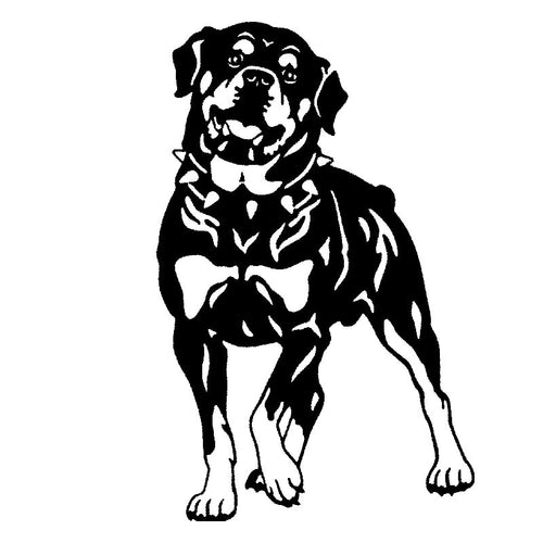17*26.2CM Rottweiler Dog Car Stickers Black/Silver