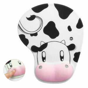 Cute Cow Anti-Slip Computer Mouse Pad Mat with Gel Wrist