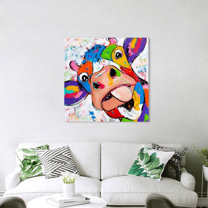 Wall Art - Canvas Painting Cow For Living Room