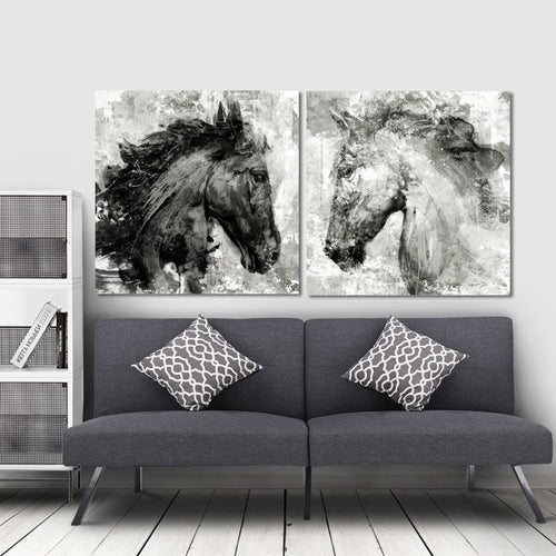 Wall Art Canvas Painting Horse (NO FRAME)
