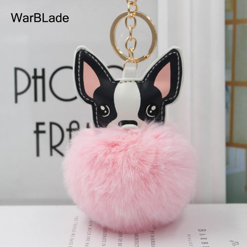 French Bulldog Keychain Fluffy