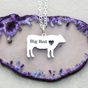 New Personalized Women Pet Cow Jewelry Farm Cow Charm Cattle Necklace