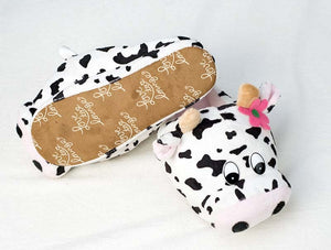 Indoor Soft Shoes cow Slippers Winter Warm Cotton Special