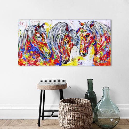 Wall Art - Three Horses (No Frame)