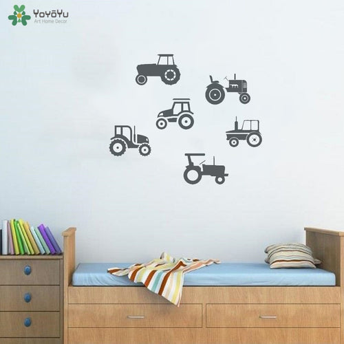 Tractors Set Wall Stickers Vinyl Home Art Decoration