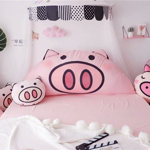 Bed Cushion Washable Bedside Pillow Pink PIG Giant Size