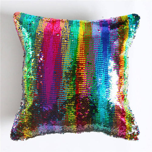 Sequin Cushion Cover Magical 40x40cm Color Changing Reversible