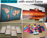 4 piece canvas Custom Canvas picture painting room decor print poster photo wall art