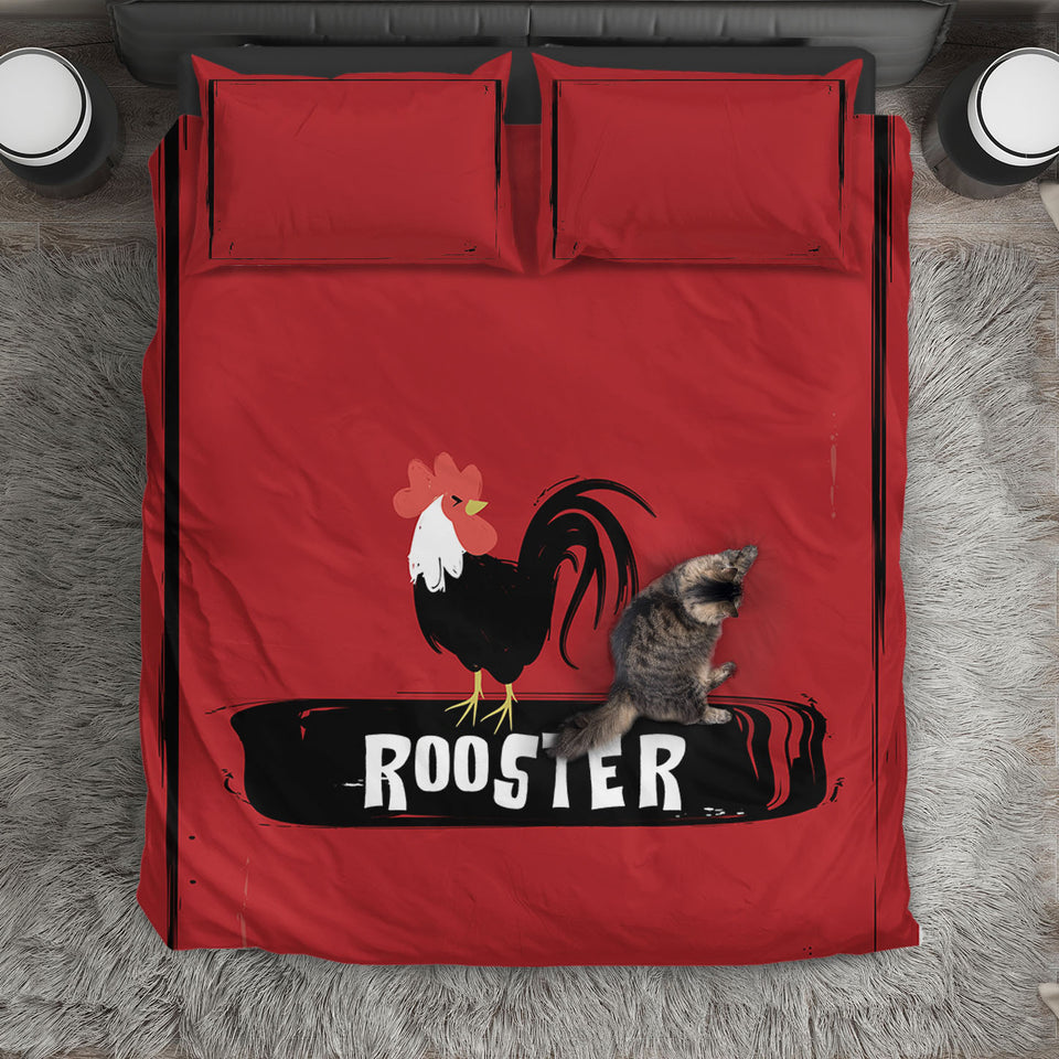 Rooster bedding set