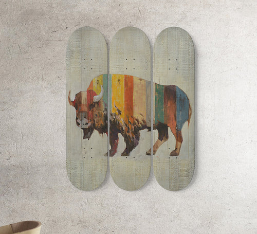 3 Skateboard Wall Art - cow 5