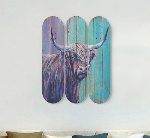 3 Skateboard Wall Art - cow 8