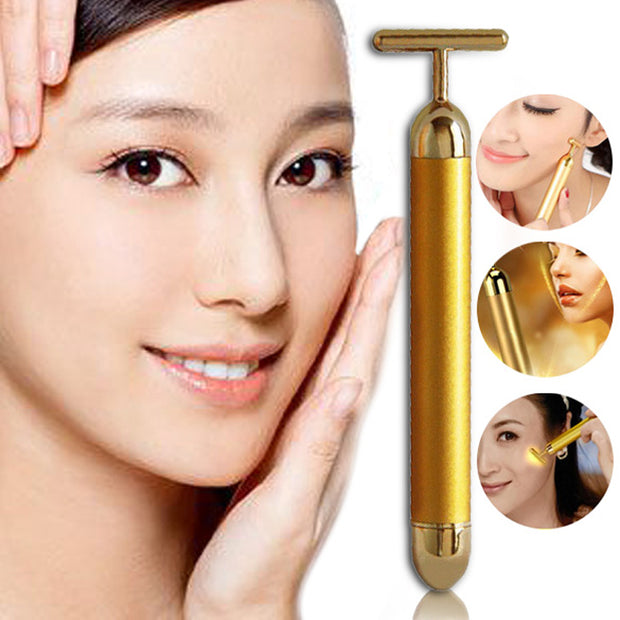 24k Gold Face Lifting Roller Massager