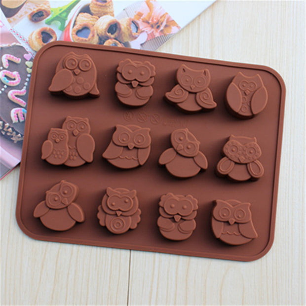 12 Owl Shaped Silicone Mold