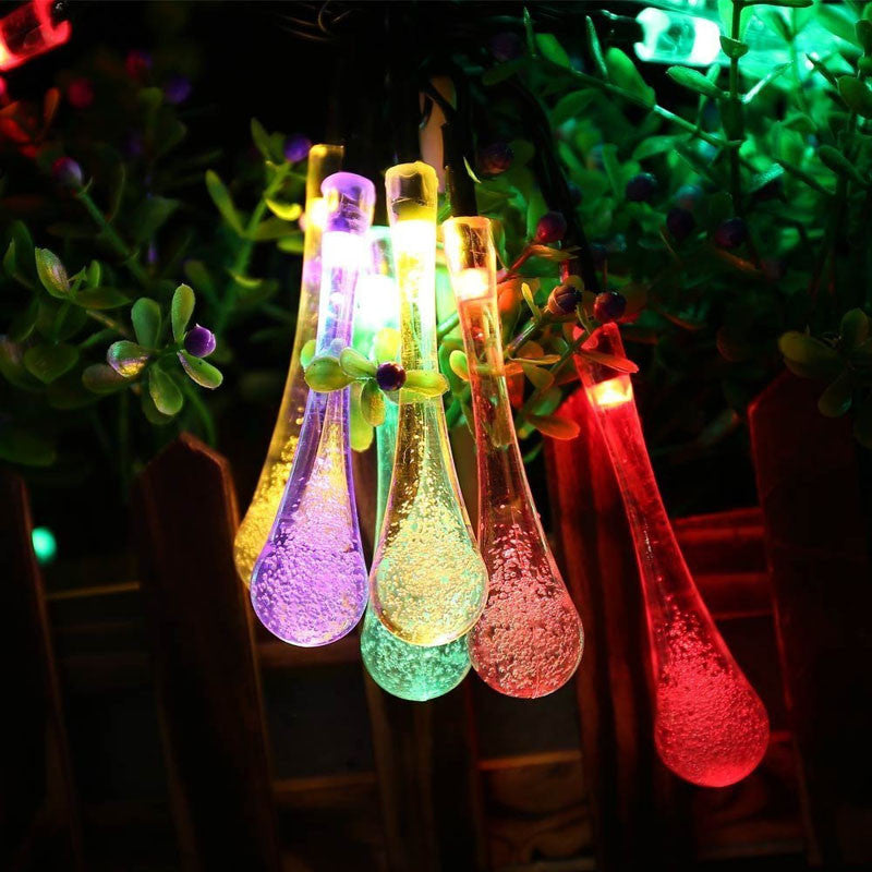 Water Drop String Solar Powered LED Lights