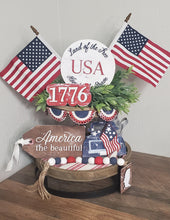 Land of The Free 1776 Tiered Tray Set
