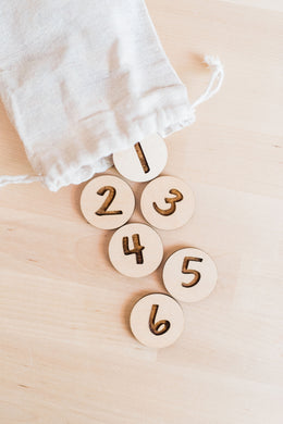 Wood Number Coins - Math Manipulatives - Educational Game - Montessori - Homeschool - Preschool Learning - Math Activities - Counting Games