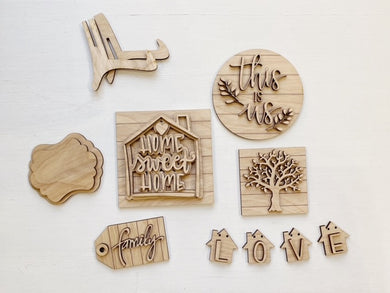 Home Sweet Home | This Is Us | Family Tiered Tray Set