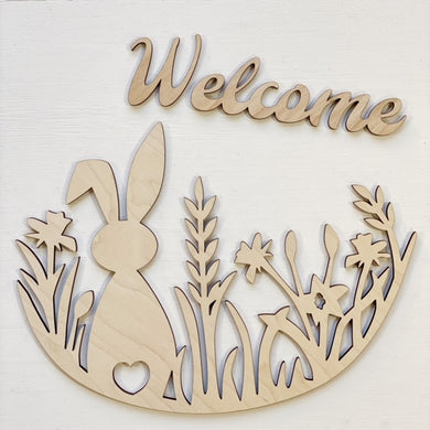 Bunny & Floral Welcome Round