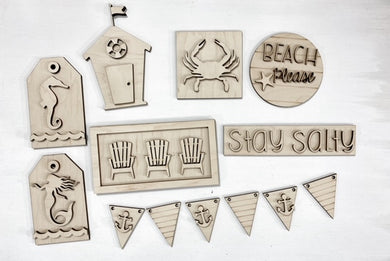 Stay Salty Beach Please Tiered Tray Set