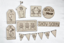 Stay Salty Beach Tiered Tray Set