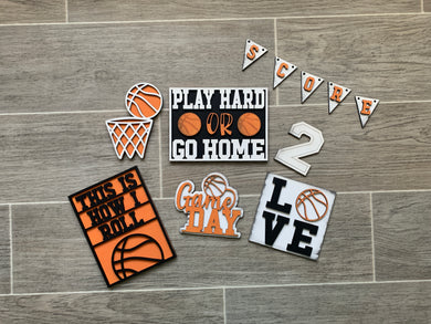 Basketball Tiered Tray Set