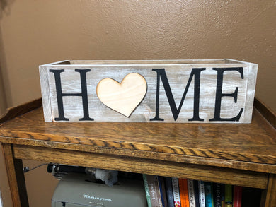 Interchangeable HOME Centerpiece Box with 4 Charms