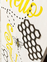 Tall Hello Sunshine with 3-D Honeycomb Piece - Sawdust & Swirls