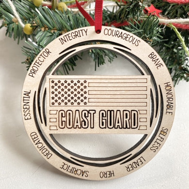 Military Christmas Tree Ornament - Marines, Coast Guard, Air Force, Army, Navy
