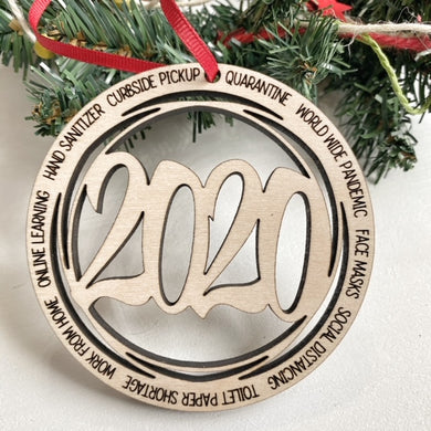 Round 2020 Christmas Ornament - English or Spanish Option