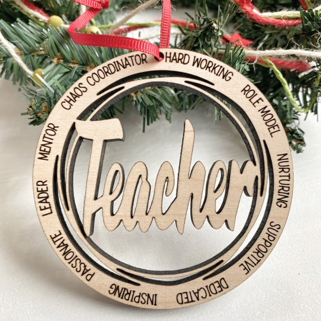 Teacher Christmas Tree Ornament