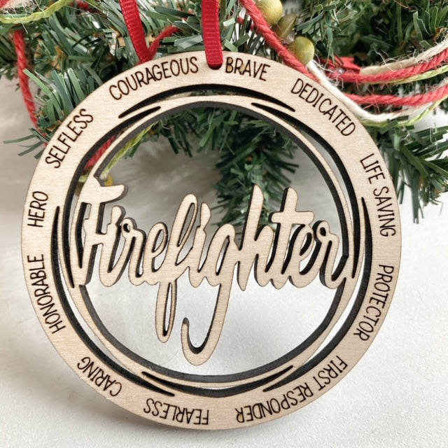Firefighter Christmas Tree Ornament