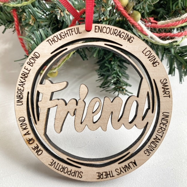 Friend Christmas Tree Ornament