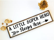 A Little Super Hero Sleeps Here - Sawdust & Swirls