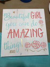 Beautiful Girl - Amazing Things - Sawdust & Swirls