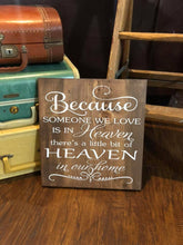 Because Someone We Love Is In Heaven - Sawdust & Swirls