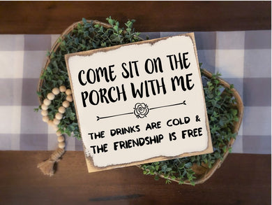 Come Sit on the Porch With Me - Sawdust & Swirls