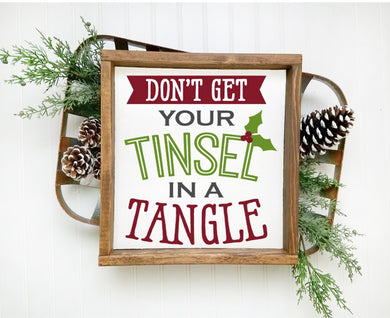 Don't Get Your Tinsel in a Tangle - Sawdust & Swirls