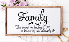 Family The Secret To Having It All Is Knowing You Already Do - Sawdust & Swirls