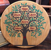 Personalized Family Tree - Sawdust & Swirls