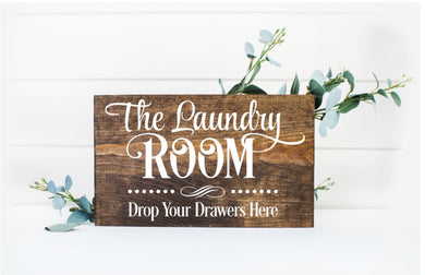 The Laundry Room Drop Your Drawers Here 2 - Sawdust & Swirls