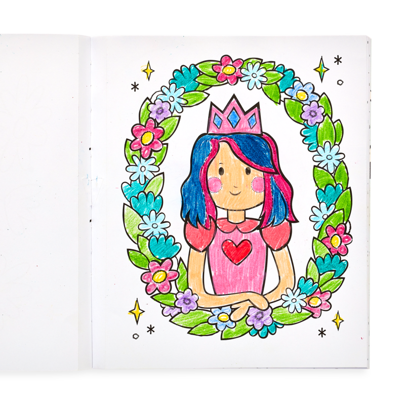 Color-In Book Princess and Fairies