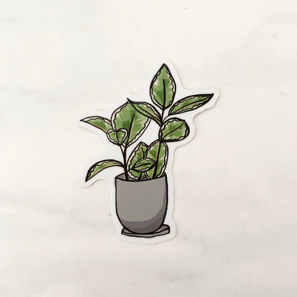 Potted House Plant Sticker