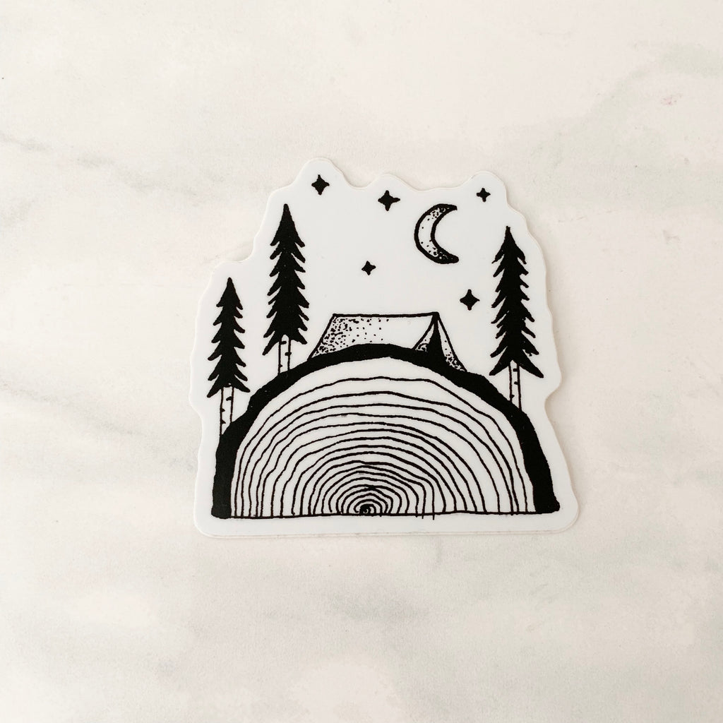 Tree Slice Sticker